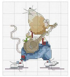 Kreuzstich Cross Stitch Music, Cross Stitch Boards, Xmas Cards, Bookmarks, Cross Stitch Patterns, Mice, Cross Stitch, Computer Mouse, Embroidery