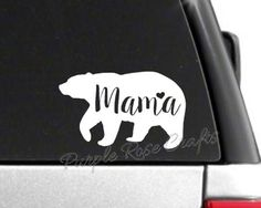 Mama Bear Decal Sticker by PRCdecals on Etsy