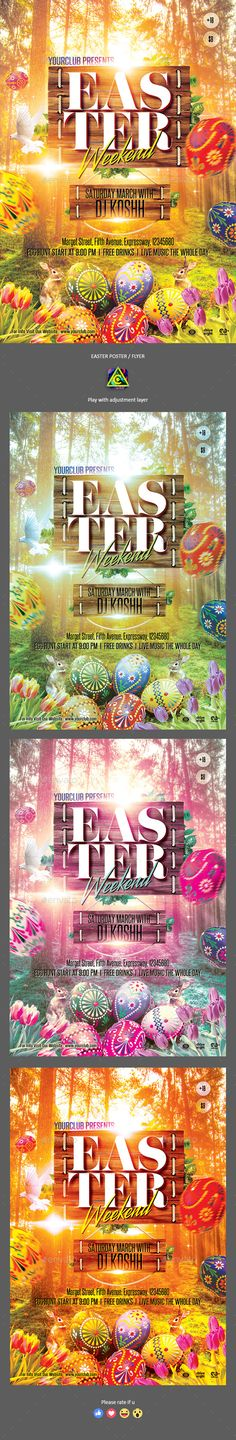 Easter Egg Hunt Flyer Bundle Template Template, Event flyers and