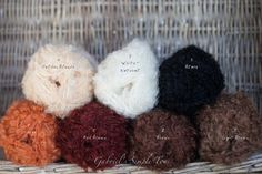 Mohair Locks Boucle Yarn Waldorf Doll Yarn by GabrielSimpleToy