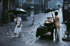 Monsoon in Old Delhi, 1983, by Steve McCurry