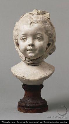 """Fillette au fichu"" sculpture by Jean-Baptiste Lemoyne the Younger France Sculpture Head, Wood Sculpture, Wow Art, Zbrush, Clay Art, Figurative Art, Oeuvre D'art, Amazing Art, Sculpting"