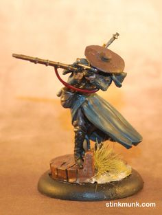Guild Rifleman 1, First Edition. Model by Wyrd Miniatures, painted by Stinkmunk (January 2013). #Malifaux