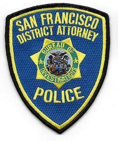 SAN FRANCISCO DISTRICK ATTORNEY POLICE  patch  | eBay