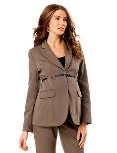 A Pea in the Pod: Belted Bi-stretch Suiting Maternity Jacket $99.99