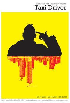 """Cartaz alternativo para """"Taxi Driver"""" (Scorsese)"""