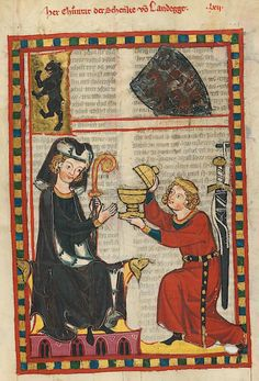 Manesse Codex -  (1300 -  1340) Herr Konrad, der Schenk von Landeck