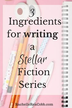 Writing a fiction series? How do you make it stellar? Here are the three ingredients you must include. Writing Words, Fiction Writing, Writing Advice, Writing Resources, Writing Help, Writing Skills, Essay Writing, Writing A Book, Creative Writing Tips