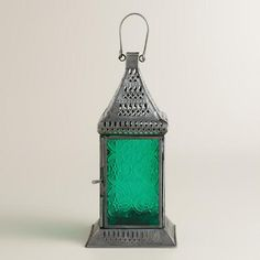 One of my favorite discoveries at WorldMarket.com: Small Green Tabletop Lantern