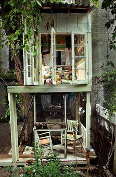 adult urban tree house