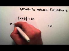 How to Solve an Absolute Value Equation , Part 1 , Intermediate Algebra , Lesson 48