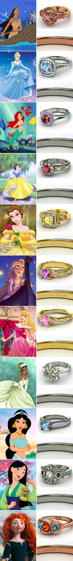 Disney princess rings...