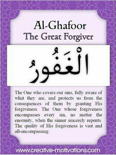 Al Ghafoor The Great forgiving