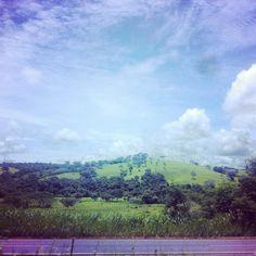 Vista da estrada de Mato Grosso.