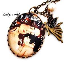 """Ketten lang - Gustav Klimt """"Mother and Child"""" - ein Designerstück von Ladysworld bei DaWanda"""