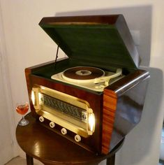 Wifi and Bluetooth speaker system vintage turntable 1952 Ducastel Frères radio /record player model Prelude with FM radio and Aux inputs. 80watts. https://www.etsy.com/listing/559590922/wifi-and-bluetooth-speaker-system?ref=shop_home_active_5