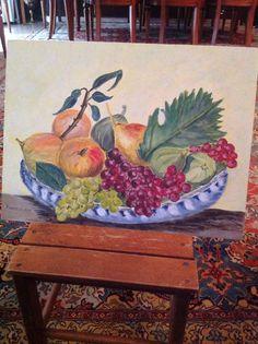 Un piatto di frutta ideato da me Painting, Art, Painting Art, Paintings, Kunst, Paint, Draw, Art Education, Artworks