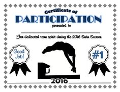 Sports certificate swimming achievement award 2017 swim team certificate digital download by simgirlscrafts on etsy yelopaper Image collections