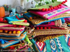 Set of 3 Bohemian Clutch Purses -  Boho, Folk, Mexican, Gypsy, Tribal, Hippie   Colors