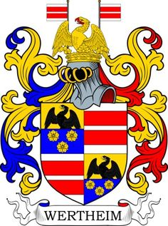Wertheim Family Crest and Coat of Arms