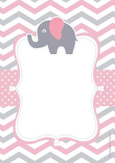 Baby shower invitations free decoration New ideas Baby Shower Planner, Idee Baby Shower, Shower Bebe, Baby Shower Games, Baby Shower Parties, Baby Boy Shower, Elephant Theme, Pink Elephant, Tableau Design