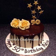 #dripcake #50thbirthdaycake #sugarpasteflower #Dartford #Greenhithe #cake