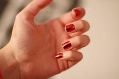 Metallic Red Nail Foils / Nail Wraps / LIMITED QUANTITY by KawaiiNailKandy on Etsy https://www.etsy.com/listing/219226937/metallic-red-nail-foils-nail-wraps