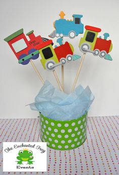 4 Piece Train Party Centerpiece