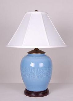 Celadon Jar Lamp: Avala And Summerour Lamps