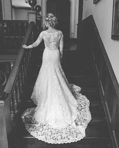 Lauren Davies looking stunning in this Augusta Jones Jo gown...... how beautiful is this image