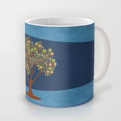 Circular tree Mug by Viviana González - $16.00