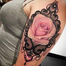 Bildergebnis für roses lace tattoo