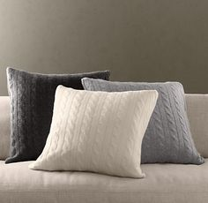 Cashmere Cable Knit Pillow Covers