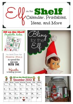 Use this Elf on the Shelf Round Up for Ideas, Calendars, Accessories, Letters, and more