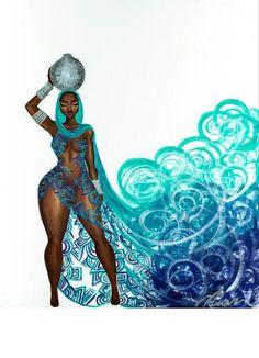 Zahirah, art print on high quality paper, frame not included Art Zahirah, African American painting, Black Woman art Sexy Black Art, Black Girl Art, Art Girl, Max Black, Black Art Painting, Black Artwork, Arte Black, Wal Art, Afrique Art