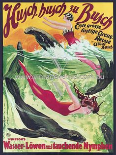 Winston's Water Lions & Diving Nymphs  1924  http://www.vintagevenus.com.au/vintage/reprints/info/C363.htm