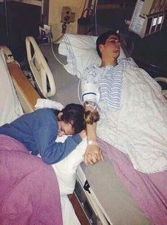 Boyfriend and girlfriend in hospital