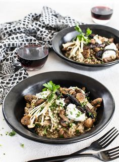 Earthy buckwheat is a great match for mushrooms, and this gluten-free risotto recipe is one the whole family will enjoy.