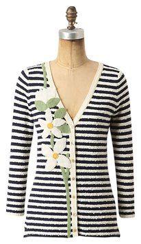 Anthropologie Floral Stripe Australe Cardigan $45