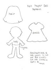 Here's my pattern for you to make a felt paper doll for your little ...