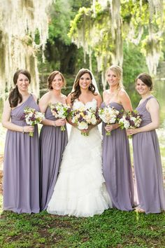 Purple Wedding Ideas - Peach and Lavender Legare Waring House Wedding - Southern Weddings