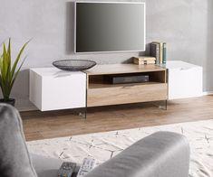 DELIFE Lowboard Henora 160 cm Weiss Hochglanz Eiche Sonoma Dekor, Fernsehtische Jetzt bestellen unter: https://moebel.ladendirekt.de/wohnzimmer/tv-hifi-moebel/tv-lowboards/?uid=20964fac-dfa4-55af-b65c-cc436c1fd813&utm_source=pinterest&utm_medium=pin&utm_campaign=boards #tvlowboards #wohnzimmer #tvhifimoebel