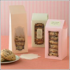 think I will look for some boxes like these for the bake sale on Friday. Just got my cookie dough delivered last night.