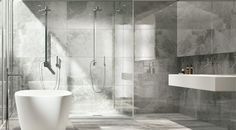 Using the very latest inkjet technology, Greige Italian Porcelain, replicates the appearance of a natural Tuscan grey marble. Greige has a highly polished luxurious smooth finish, which reflects light giving the appearance of a larger room Restroom Remodel, Shower Remodel, Small Bathroom, Bathroom Ideas, Family Bathroom, Bathroom Wall, Bathrooms, Wood Effect Tiles, Simple Bathroom Designs