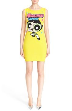 Moschino 'The Powerpuff Girls® - Buttercup' Intarsia Knit Dress available at #Nordstrom