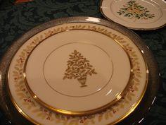 The Lenox Eternal Christmas fine china pattern.