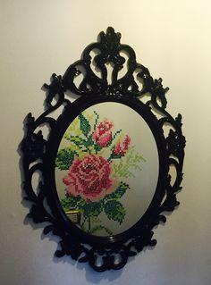 Punto croce dipinto su muro Riflesso specchio Ikea ung drill