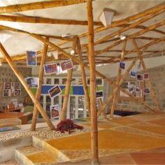 Etonnante éco-construction en bambous à Bangalore en Inde