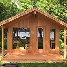 backyard design – Gardening Tips Exterior Doors, Interior And Exterior, Pool Changing Rooms, Sauna Heater, Outdoor Sauna, Sauna Room, Wood Shed, Shed Roof, Home Spa