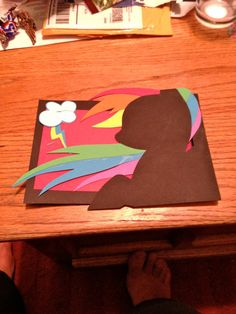 My Little Pony Rainbow Dash cards. Pony should be blue, not brown>>> I think it should be black My Little Pony Birthday, My Little Pony Party, Diy Arts And Crafts, Paper Crafts, Rainbow Dash Party, Mlp, Fanart, My Little Pony Friendship, Kids Cards